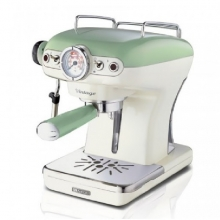 ARIETE 1389/14 GREEN ESPRESSO MACHINE VINTAGE(ΕΩΣ 6 ΑΤΟΚΕΣ ή 60 ΔΟΣΕΙΣ)