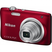 NIKON Coolpix A100 Red + ΔΩΡΟ NIKON CS-S14 black case for S1000pj (ΕΩΣ 6 ΑΤΟΚΕΣ ή 60 ΔΟΣΕΙΣ)