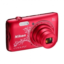 NIKON Coolpix A300 RED LINEART  + ΔΩΡΟ SanDisk USB 2.0(533457)(ΕΩΣ 6 ΑΤΟΚΕΣ ή 60 ΔΟΣΕΙΣ)