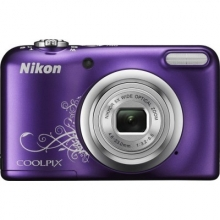 NIKON Coolpix A10 Purple Lineart + NIKON CS-S14 black case for S1000pj